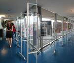 Výstava výtvarných prací - terasa 21. tovární budovy
